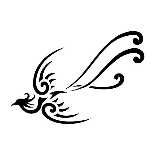 Tribal Phonenix New Beginning Tattoo Design