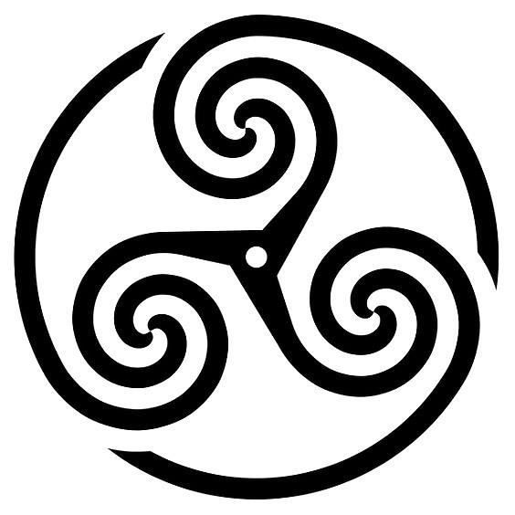 Triskel Symbol Tattoo Design
