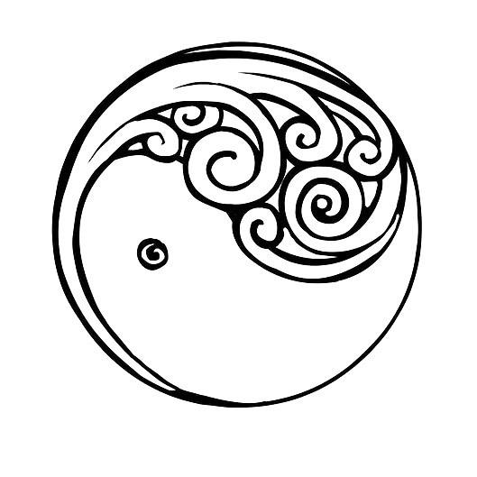 Yin Yang New Beginning Tattoo Design