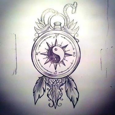 Yin-yang Travel Tattoo