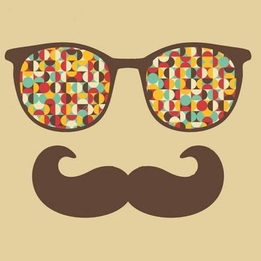 Retro Sunglasses Hipster Mustache Tattoo