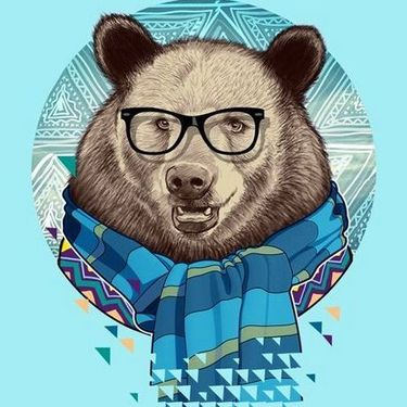 Hipster Bear Tattoo