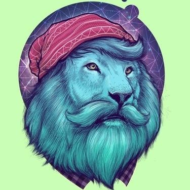 Hipster Lion Tattoo