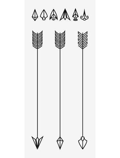 Cool Arrows Tattoo Design