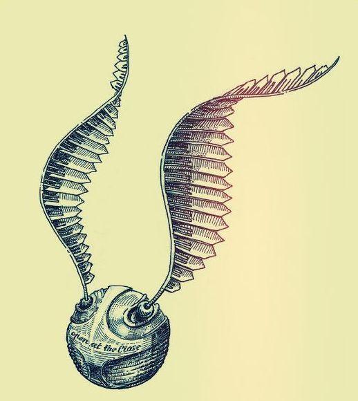 Golden Snitch Tattoo Design