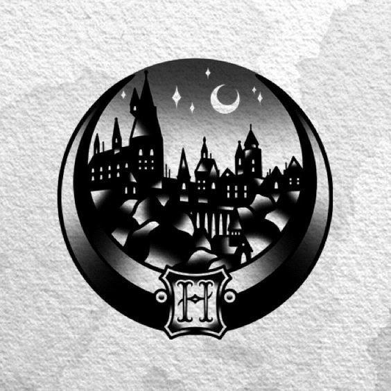 Hogwarts Harry Potter Tattoo Design