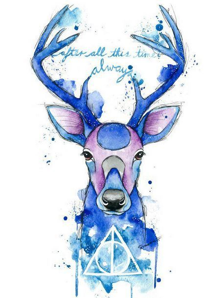 Watercolor Harry Potter Patronus  Tattoo Design