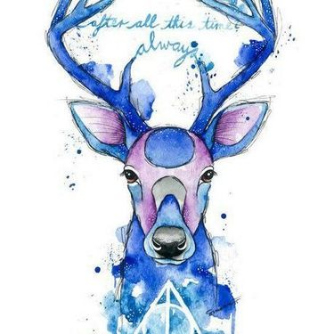 Watercolor Harry Potter Patronus  Tattoo
