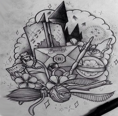 Harry Potter Things Tattoo Design