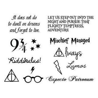 Harry Potter Letterings Tattoo Design