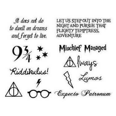 Harry Potter Letterings Tattoo