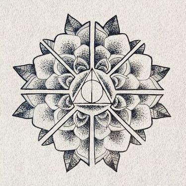 Deathly Hallows Mandala Tattoo