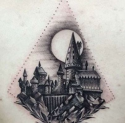 Hogwarts Castle Tattoo Design