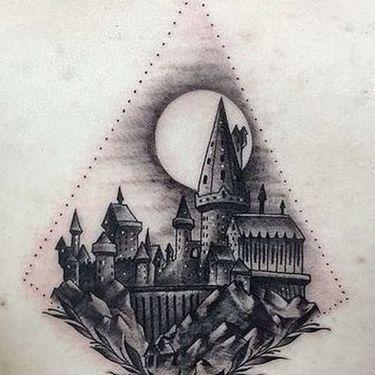 Hogwarts Castle Tattoo