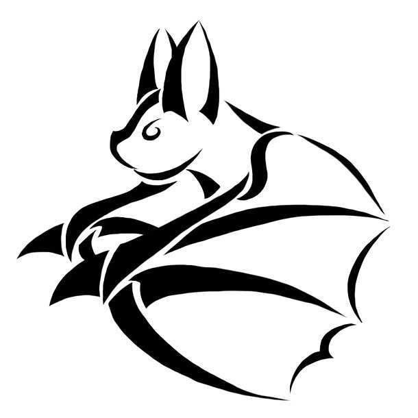 Awesome Bat Tattoo Design