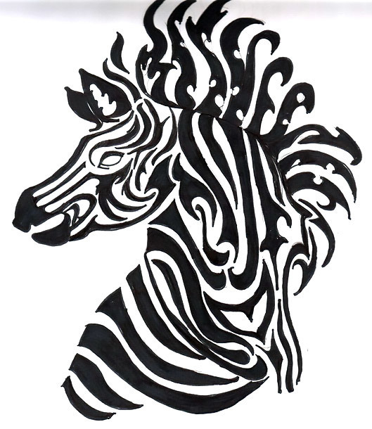 Awesome Zebra Tattoo Design