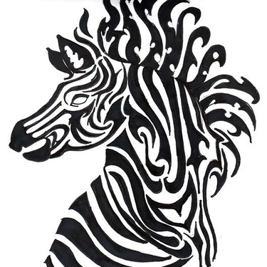 Awesome Zebra Tattoo