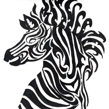Awesome Zebra Tattoo