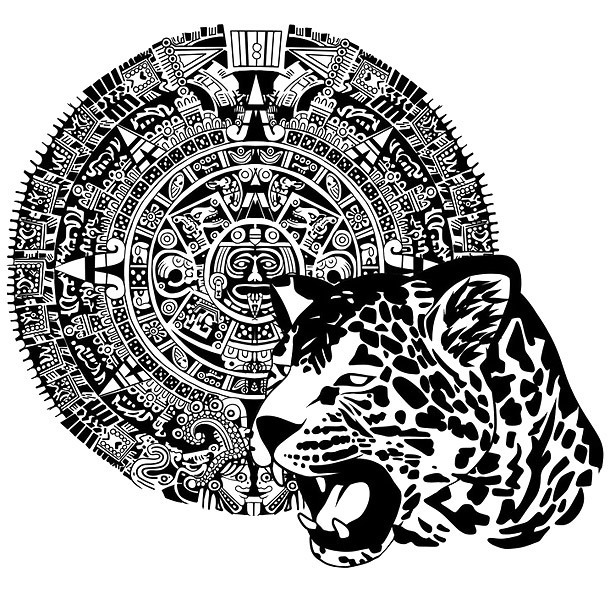 Aztec Jaguar Tattoo Design
