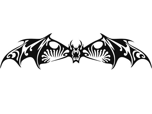 Badass Bat Tattoo Design
