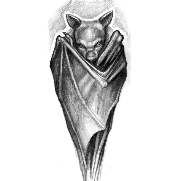Bat Tattoo Design for Arm Tattoo Design