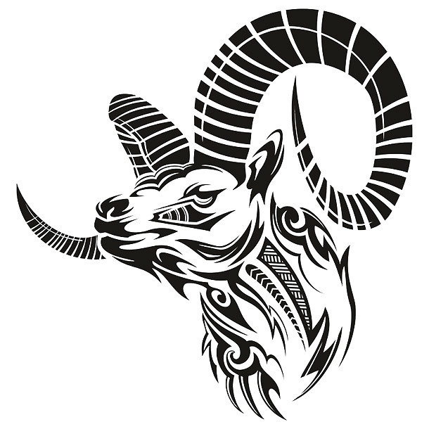 Beautiful Goat Tattoo Design