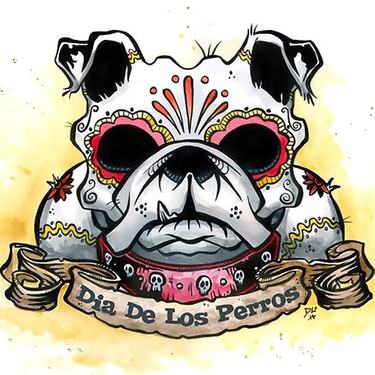 Best Bulldog Dia De Los Perros Tattoo