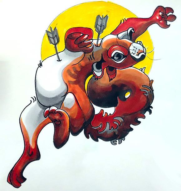 Best Squirrel Tattoo Design