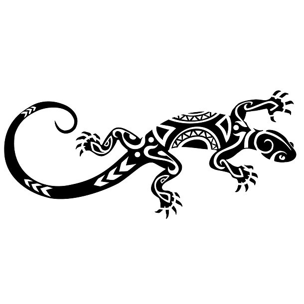 Best Tribal Gecko Tattoo Design