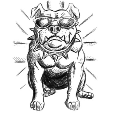 Cool Bulldog Tattoo