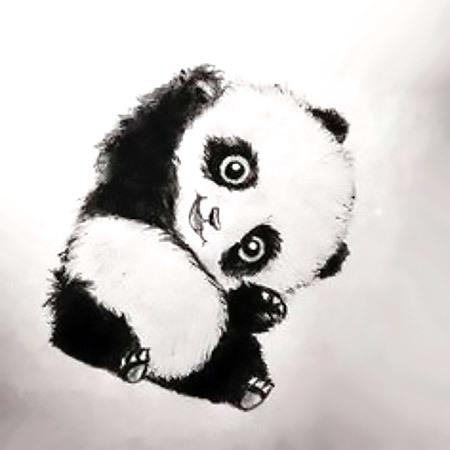 Cute Panda Tattoo Design
