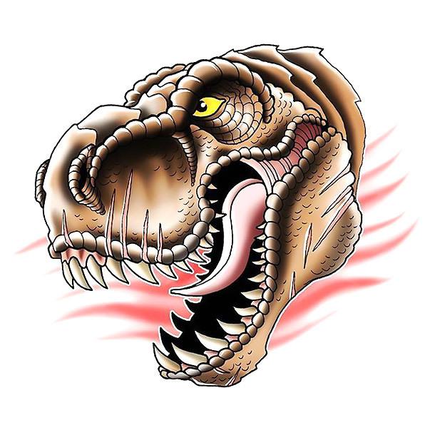 Dinosaur Head Tattoo Design