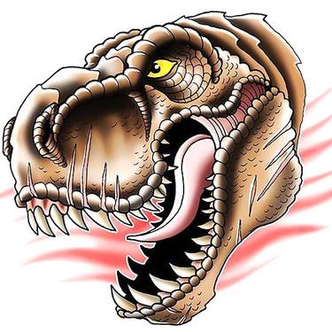 Dinosaur Head Tattoo