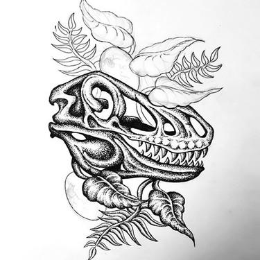 Dinosaur Skull Tattoo