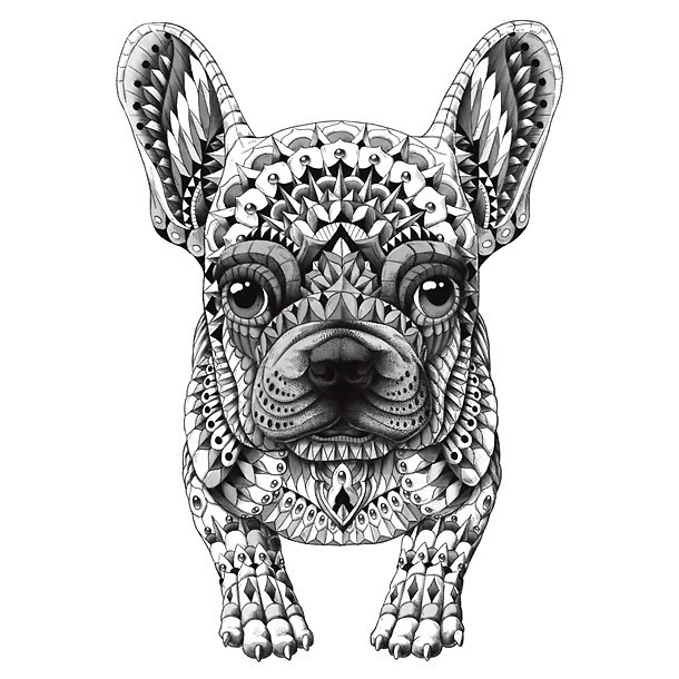 French Bulldog Tattoo Design