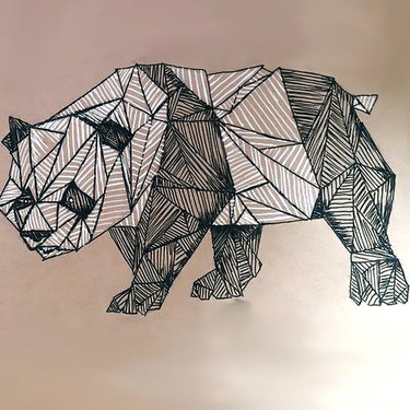 Cool Geometric Panda Tattoo