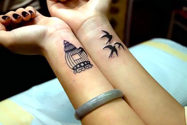Birdcage on Wrist Tattoo Idea