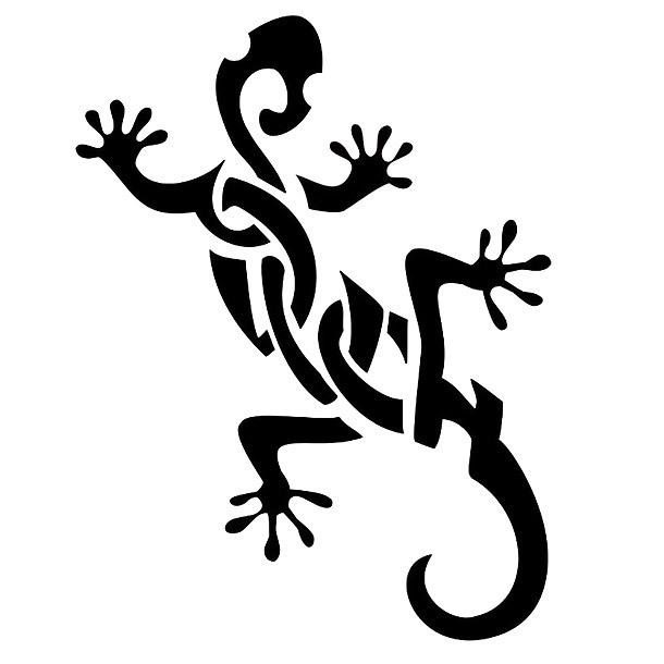 Nice Tribal Gecko Tattoo Design
