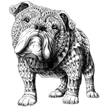 Ornate Bulldog Tattoo