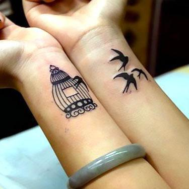 Birdcage on Wrist Tattoo