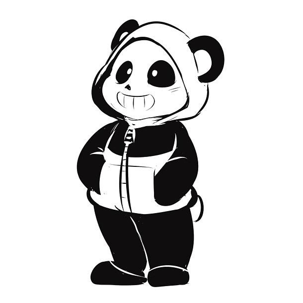 Panda Boy Tattoo Design