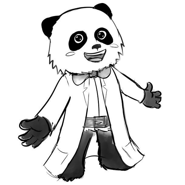 Panda Mascot Tattoo Design