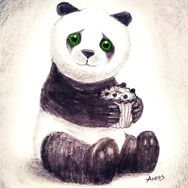 Panda With Cake Tattoo