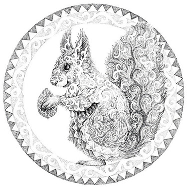 Pattern Squirrel Tattoo