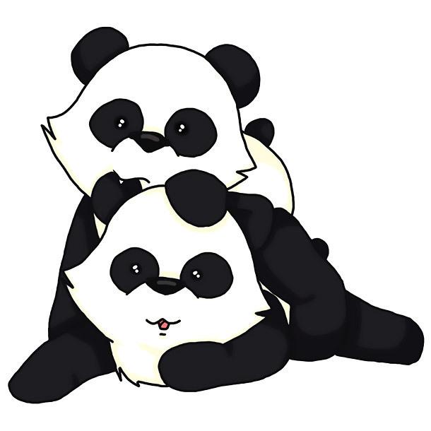 Playing Pandas Tattoo Design