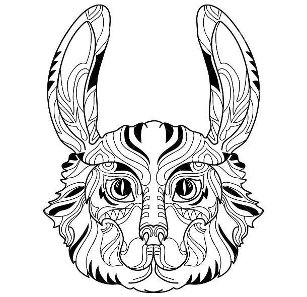 Rabbit Head Tattoo Design