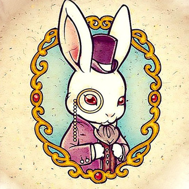 Rabbit Portrait Tattoo