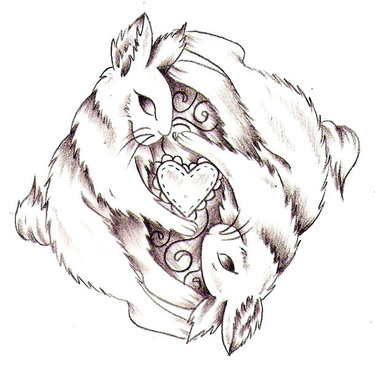 Rabbits Heart Keepers Tattoo