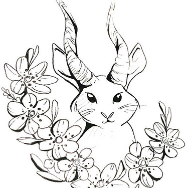 Rabbit With Horns Tattoo