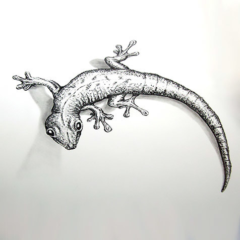 Realistic Gecko Tattoo Design